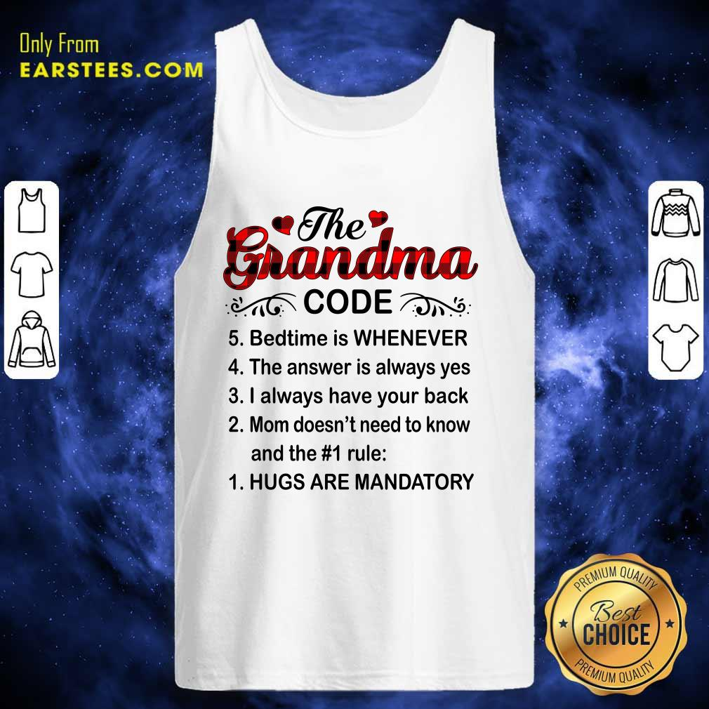 The Grandma Code Mother Day Tank Top- Design By Earstees.com
