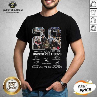 Top 28 Years Of BSB 1993 Backstreet Boys Shirt