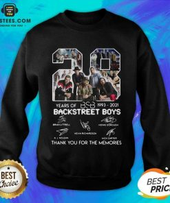 Top 28 Years Of BSB 1993 Backstreet Boys Sweatshirt