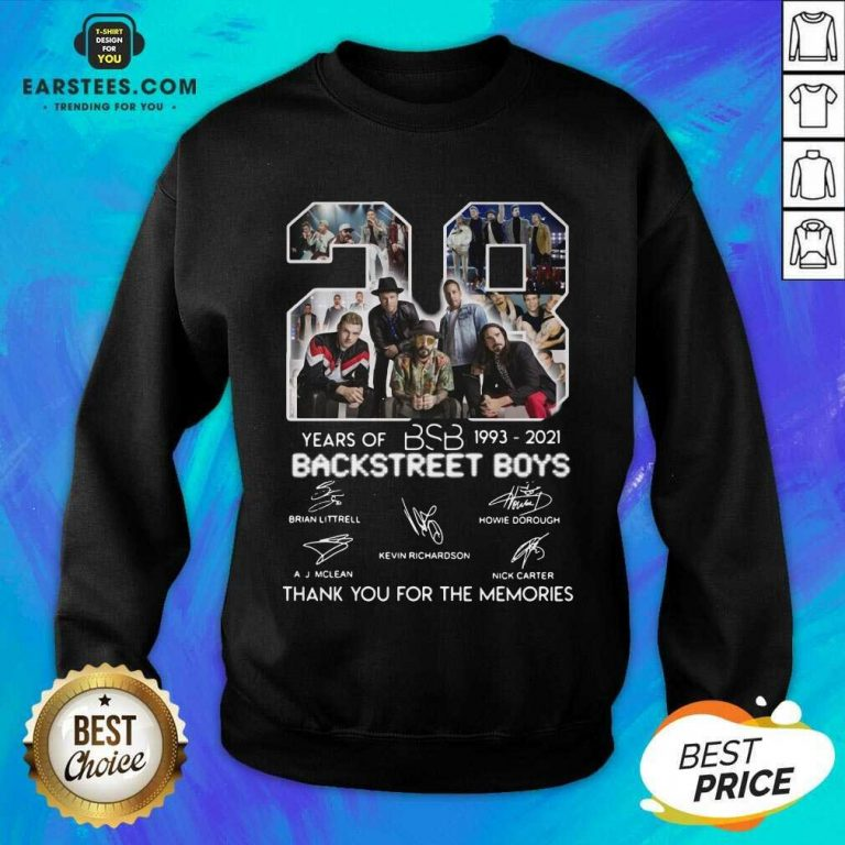 Top 28 Years Of BSB 1993 Backstreet Boys Sweatshirt