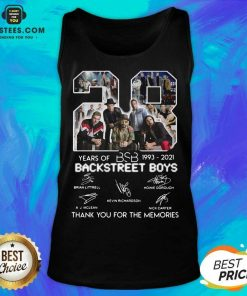 Top 28 Years Of BSB 1993 Backstreet Boys Tank Top
