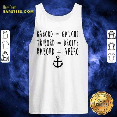 Top Bâbord Gauche Tribord Droite Anchor Tank Top