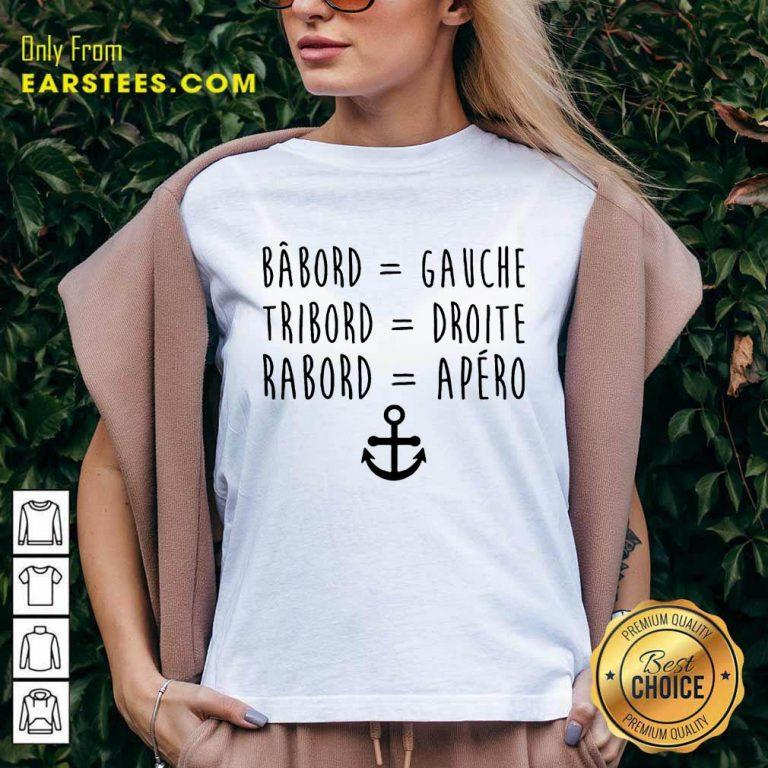 Top Bâbord Gauche Tribord Droite Anchor V-neck