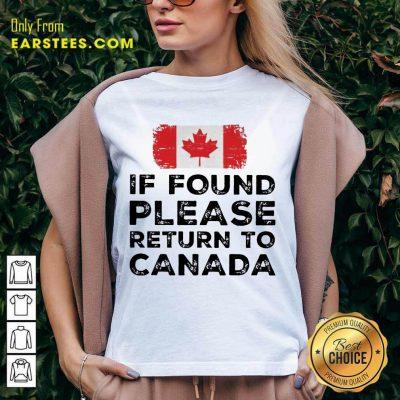 Funny Found Return To Canada Ecstatic V-neck