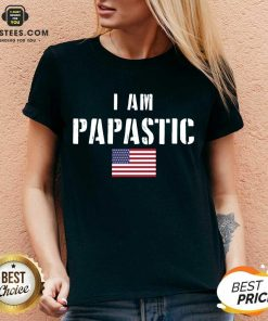 Vip I Am Papastic American Flag Great V-neck