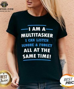 Vip Multitasker Same Time Amused 6 V-neck