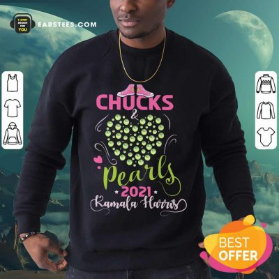 Awesome Chucks And Pearls 2021 Pink Green Sweatshirt