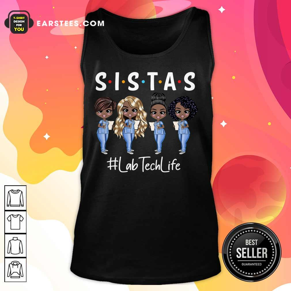 Awesome Lab Tech Life Sistas Colored Nurse Tank Top