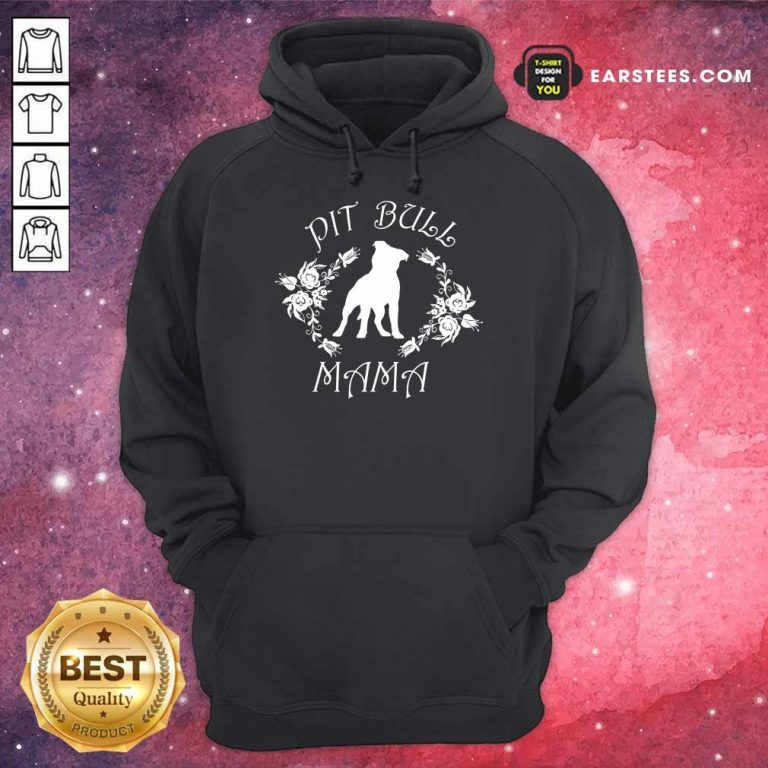 Awesome Pit Bull Mama Flower Hoodie