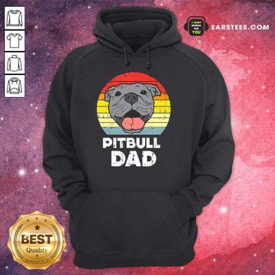 Awesome Pitbull Dad Vintage Hoodie