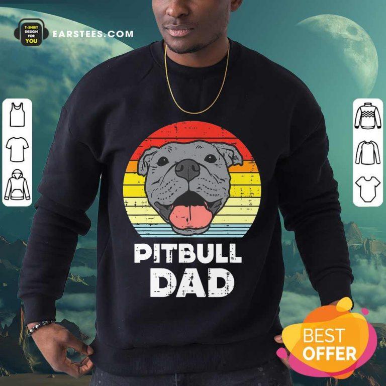 Awesome Pitbull Dad Vintage Sweatshirt