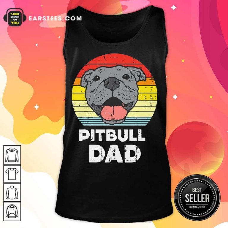 Awesome Pitbull Dad Vintage Tank Top