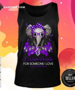 Elephant I Wear Purple For Someone I Love Lupus Awareness Tank Top