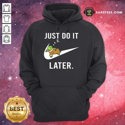 Excellent Baby Yoda Sleep Just Do It Later Hoodie