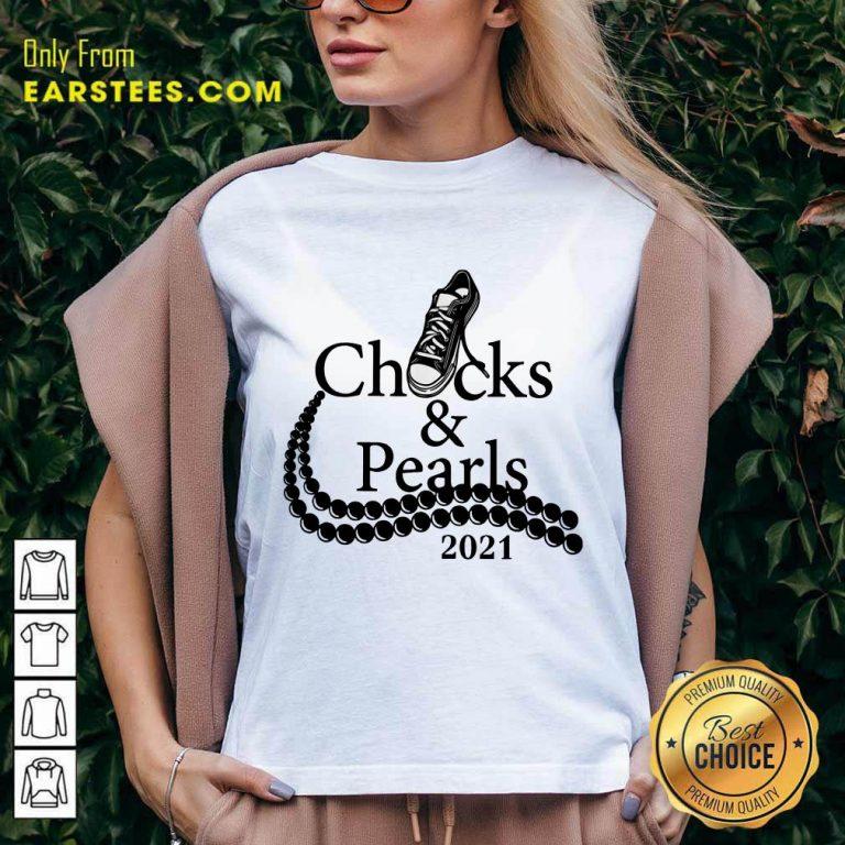 Excellent Chucks And Pearls Black Converse 2021 V-neck