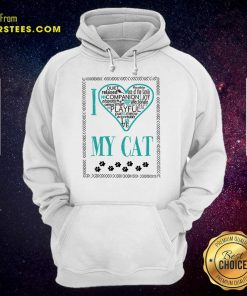 Excellent I Love My Cat Hoodie