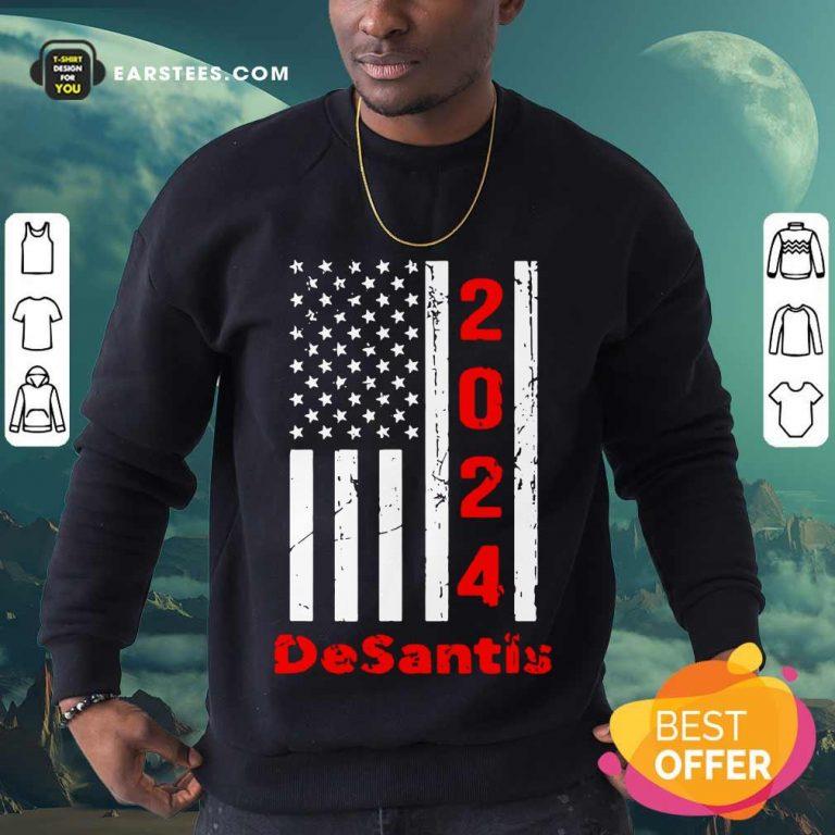 Funny 2024 Desantis American Flag Sweatshirt