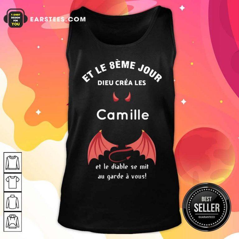Funny Et Le 8eme Jour Dieu Créa Les Camille Tank Top