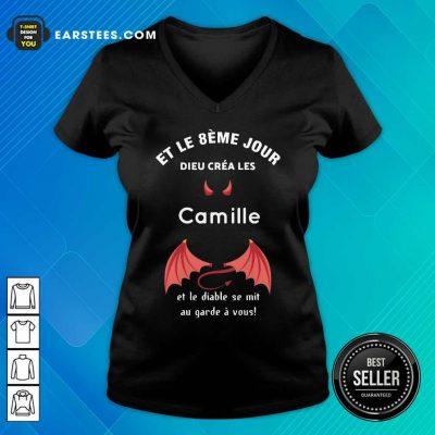 Funny Et Le 8eme Jour Dieu Créa Les Camille V-neck