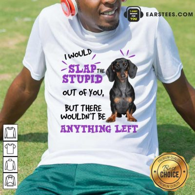 Good Dachshund I Would Slap The Stupid Out Of You But There Would Not Be Anything Left Shirt