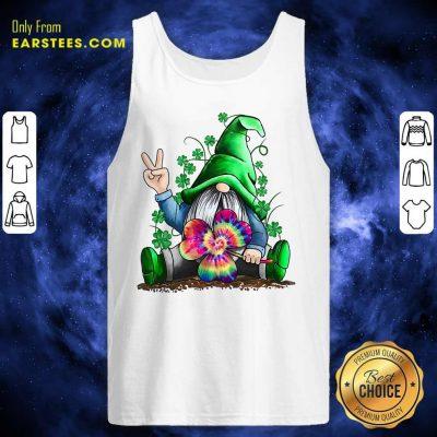 Happy St Patricks Day Hippie Gnome Tank Top