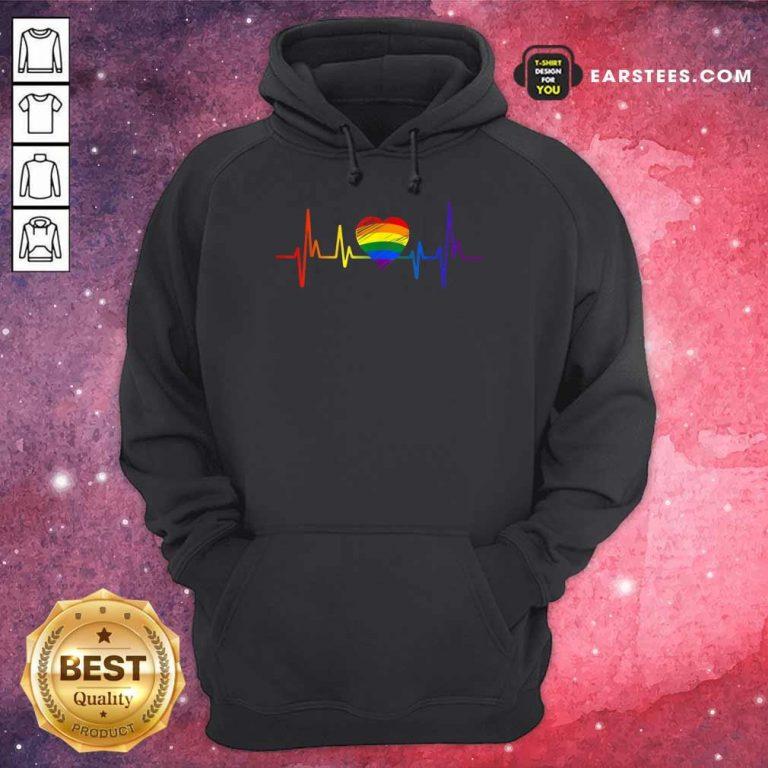 Hot LGBT Pride Heartbeat Hoodie