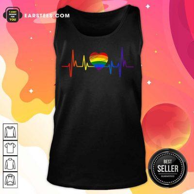 Hot LGBT Pride Heartbeat Tank Top