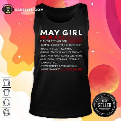 Original May Girl Facts Tank Top