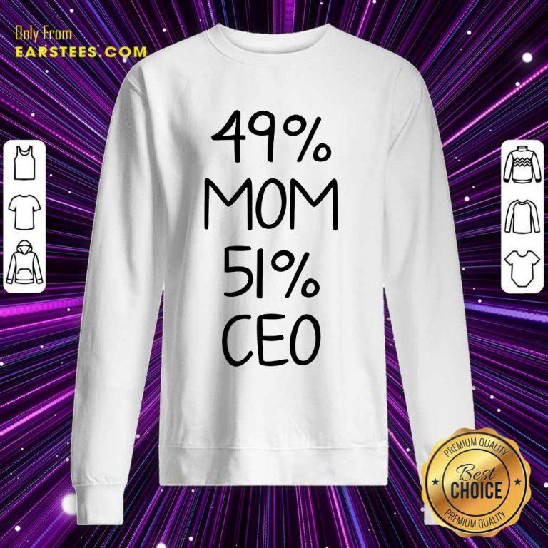 Perfect 49% Mom 51% Ceo Sweatshirt