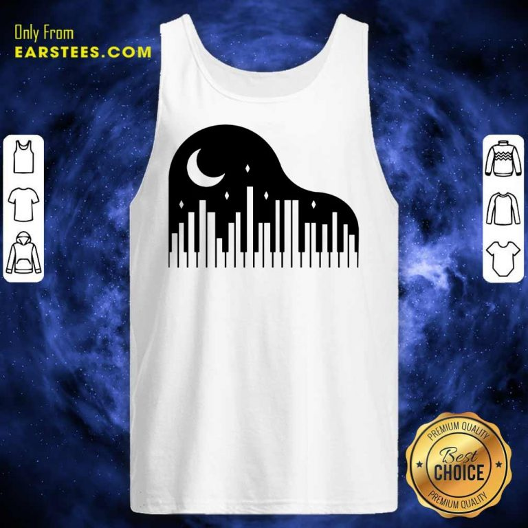 Perfect Piano And Night City Tank Top