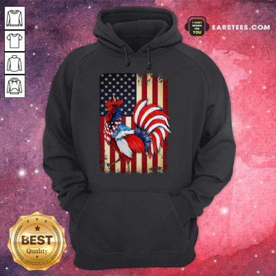 Premium Chicken Flag American Hoodie
