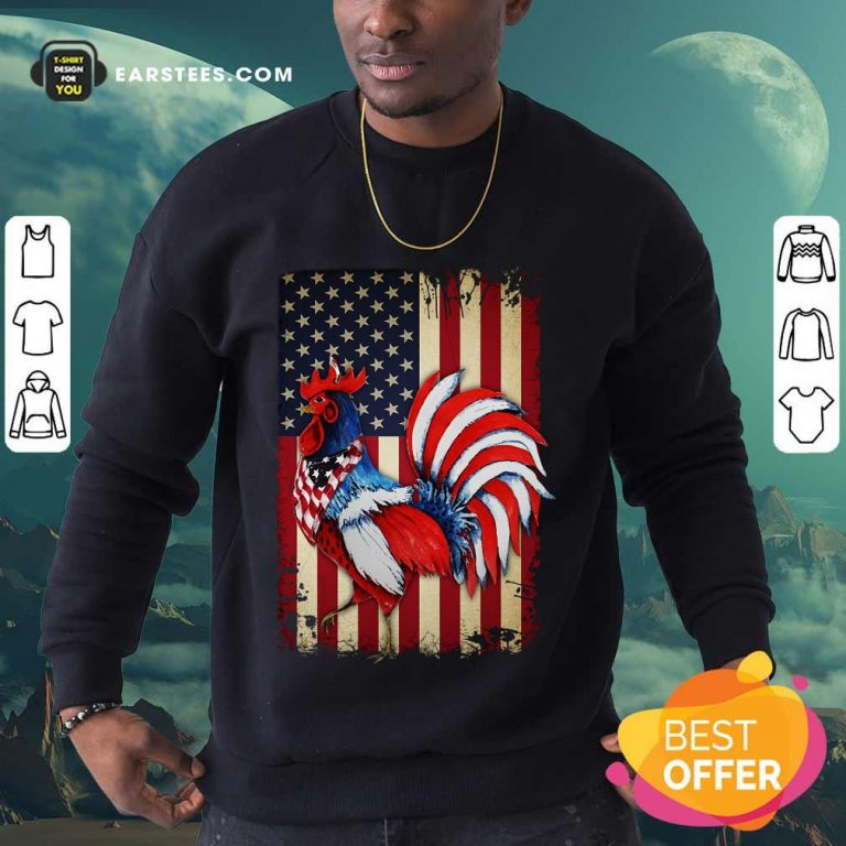 Premium Chicken Flag American Sweatshirt