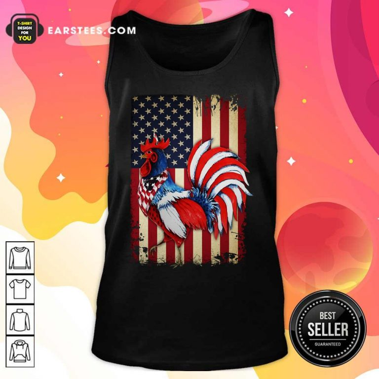 Premium Chicken Flag American Tank Top