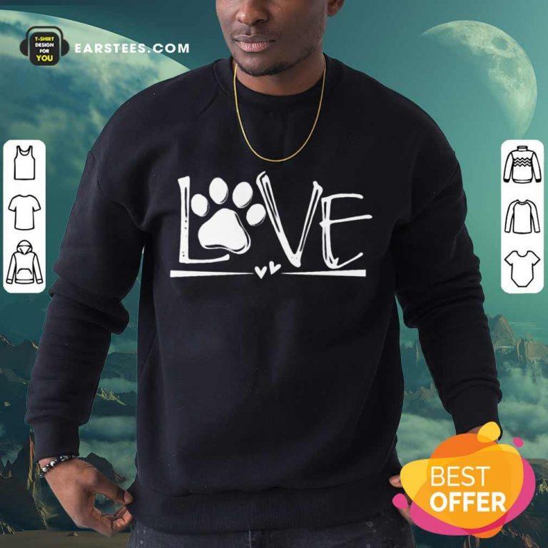 Premium Dog's Footprint Love Sweatshirt