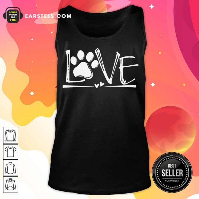 Premium Dog's Footprint Love Tank Top
