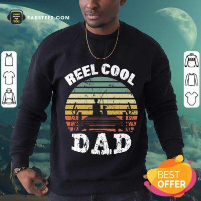 Premium Fishing Reel Cool Dad Vintage Sweatshirt