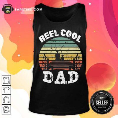 Premium Fishing Reel Cool Dad Vintage Tank Top