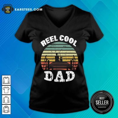Premium Fishing Reel Cool Dad Vintage V-neck