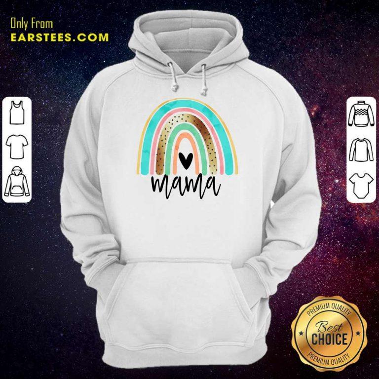 Premium Leopard Rainbow Mama Hoodie