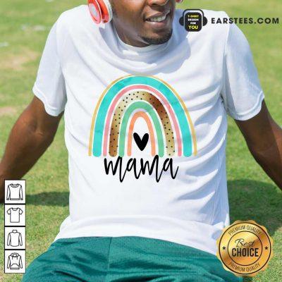 Premium Leopard Rainbow Mama Shirt