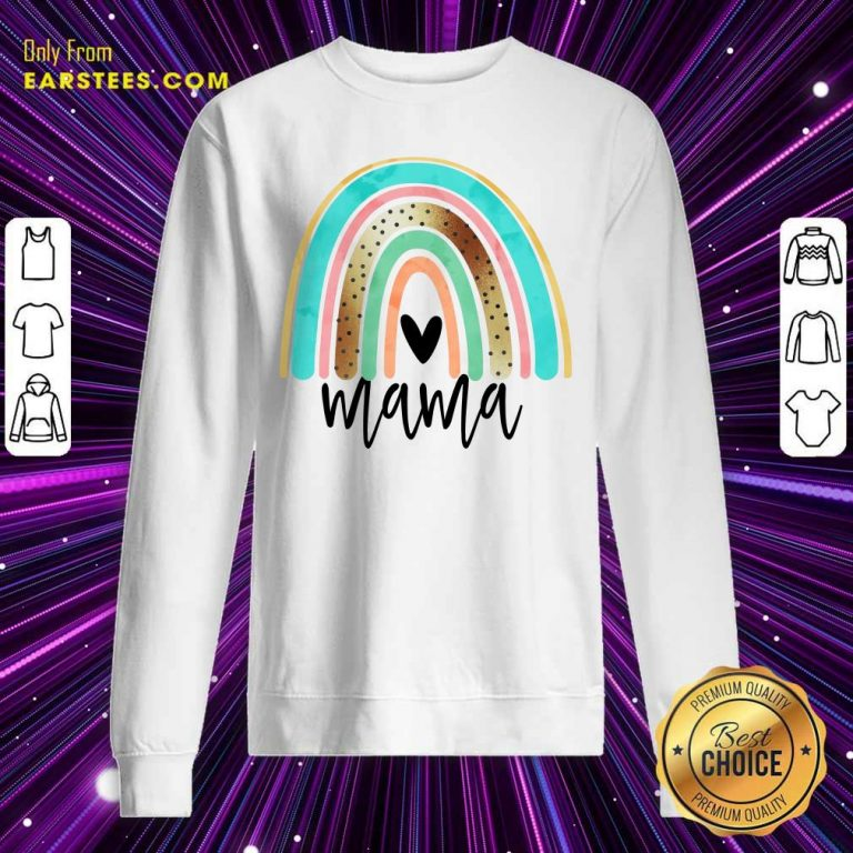 Premium Leopard Rainbow Mama Sweatshirt