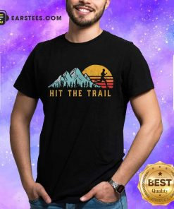 Pretty Hit The Trail Runner Retro Running Graphic Shirt