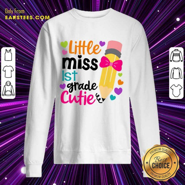 Pretty Little Miss 1st Grade Cutie Sweatshirt