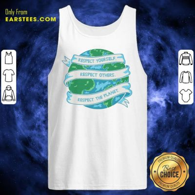 Respect The Planet Toddler Baseball Earth Day Tank Top