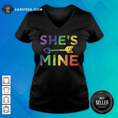 Top LGBT Shes Mine V-Neck