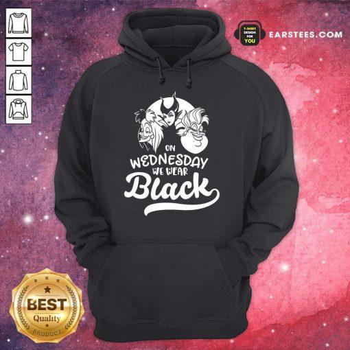 Top Maleficent On Wednesday We Wear Black Hoodie