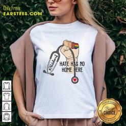 Top Phlebotomist Hate Has No Home Here V-neck