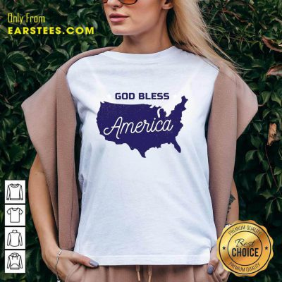 Nice God Bless America V-Neck