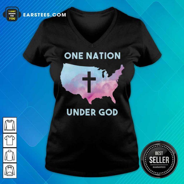 Nice One Nation Under God V-Neck