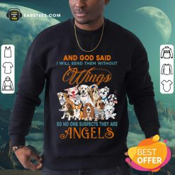 Nice Wings Dog And God Said Angels Sweatshirt